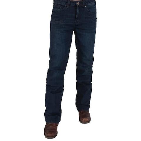 B. Tuff Western Jeans Mens Sport Bootcut Mid-Rise Dark Wash