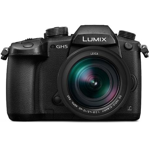 Panasonic LUMIX GH5 4K Mirrorless Camera with LEICA DG 12-60mm Lens