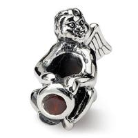 Sterling Silver Reflections January CZ Antiqued Bead (4mm Diameter Hole)