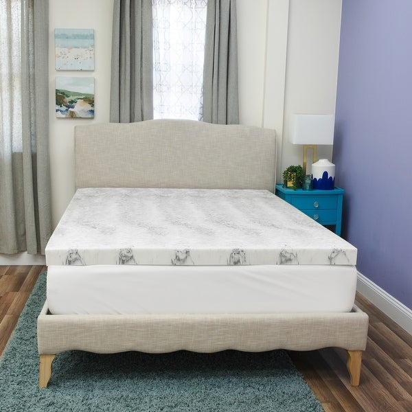Bamboo Charcoal Infused Memory Foam Mattress Topper from SensorPEDIC. Opens flyout.