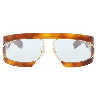 Gucci GG0233/S 001 Havana Irregular Oval Sunglasses - 63-14-130