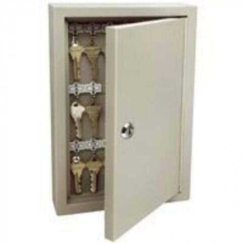 Ge 001801 Steel Key Cabinet Lockable, 30-Key, Clay