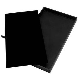 Luxurious Black Velvet Jewelry Display Pad And Tray 14.75x8.25x1 Inch (1 Set)