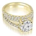 1.36 cttw. 14K Yellow Gold Lucida Cathedral Split Shank Diamond Bridal Set - Thumbnail 0