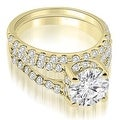 1.61 cttw. 14K Yellow Gold Lucida Cathedral Split Shank Diamond Bridal Set - Thumbnail 0