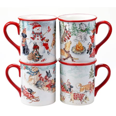 Certified International Special Delivery 16 oz. Mugs (Set of 4)