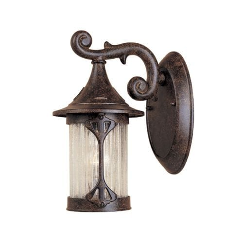 """Designers Fountain 20901-CHN 1 Light 5.5"""" Cast Aluminum Wall Lantern from the Grand Court Collection"""