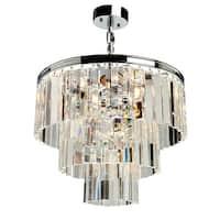 """Artcraft Lighting AC10409CH El Dorado 9-Light Crystal Mini Chandelier - 19"""" Wide - Chrome - N/A"""