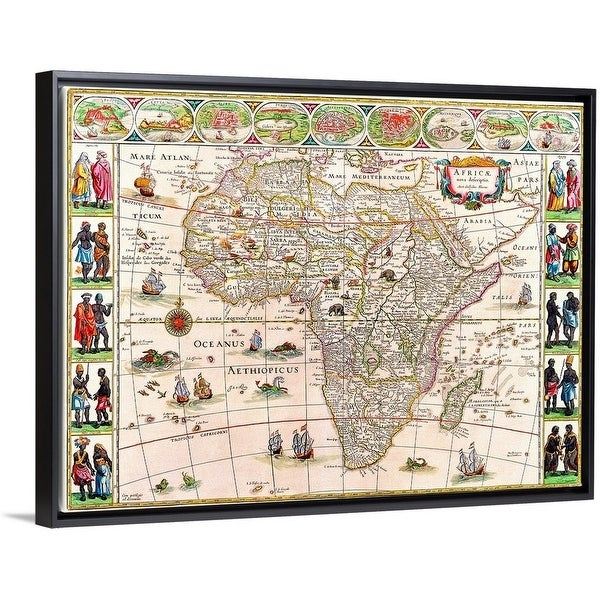 Map Of Africa Today.Shop Map Of Africa Multi Color Free Shipping Today Overstock