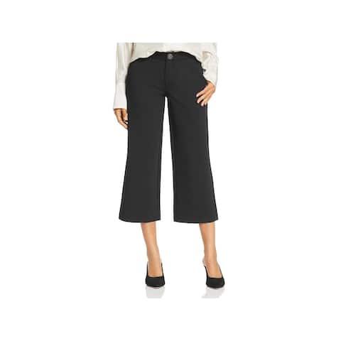 Jag Jeans Womens Blair Dress Pants Mid-Rise Wide Leg - Black