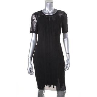 Elie Tahari Womens Marianna Mesh Applique Party Dress - 0