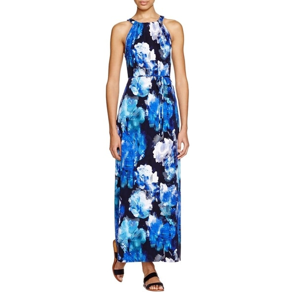 T Tahari Womens Avalon Maxi Dress Matte Jersey Printed