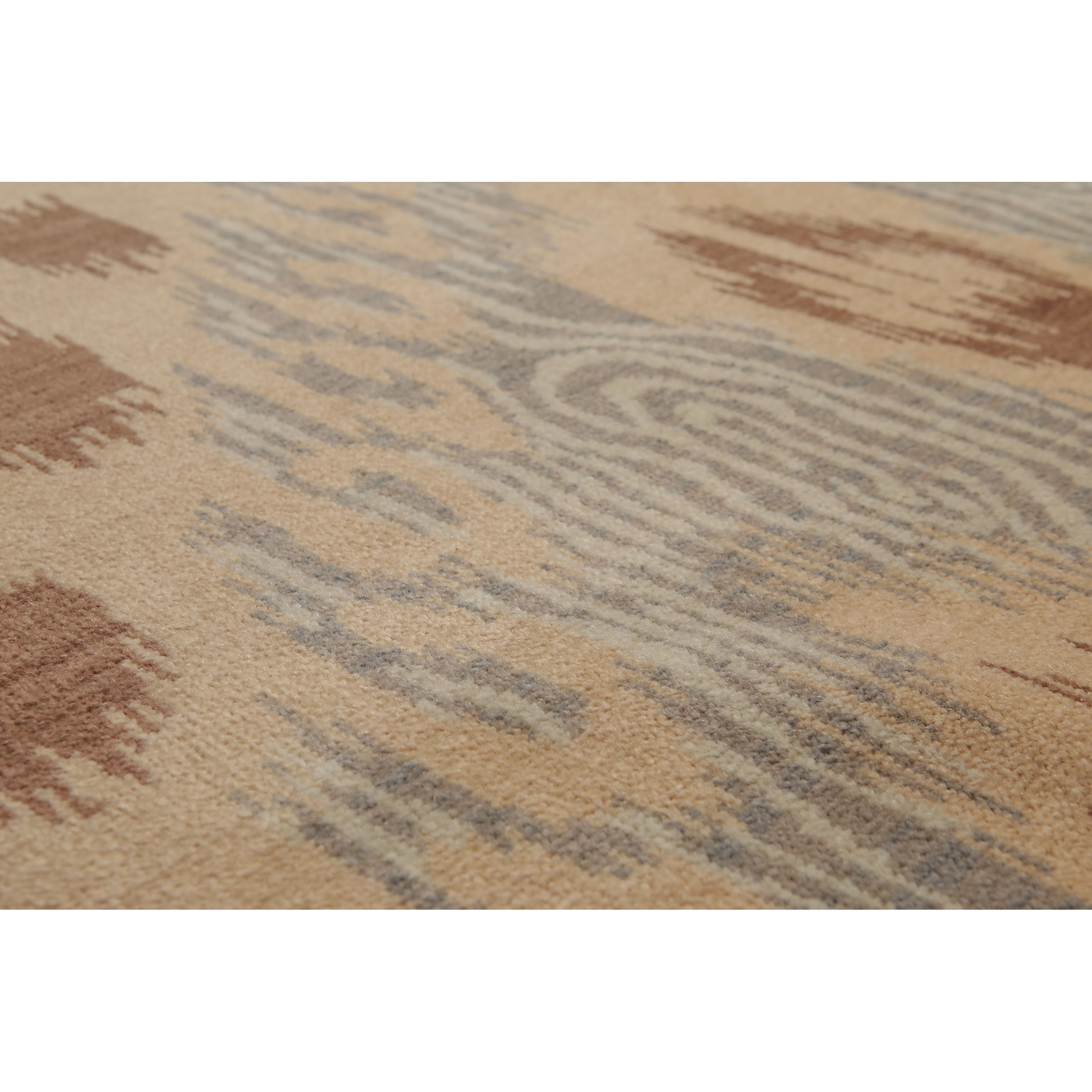 Hand Knotted Ikat Design Tan Brown Oriental Wool Traditional Oriental Area Rug 8x10 8 X 10 On Sale Overstock 20956395