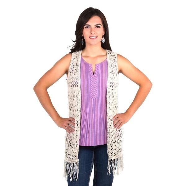 Noble Outfitters Vest Womens Arizona Fashion Knit Fringe