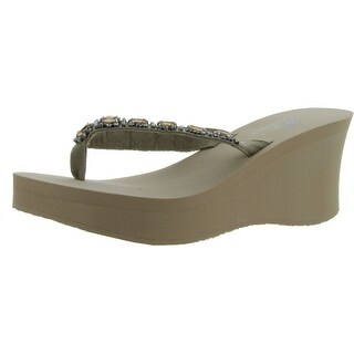Nomad Women's Gem Wedge Sandal - Beige - 10 b(m) us