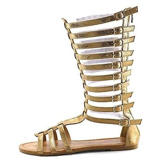 Penny Loves Kenny Womens Tristen Faux Leather Gladiator Sandals