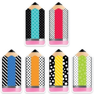 6In Striped/Spotted Pencils Cutouts