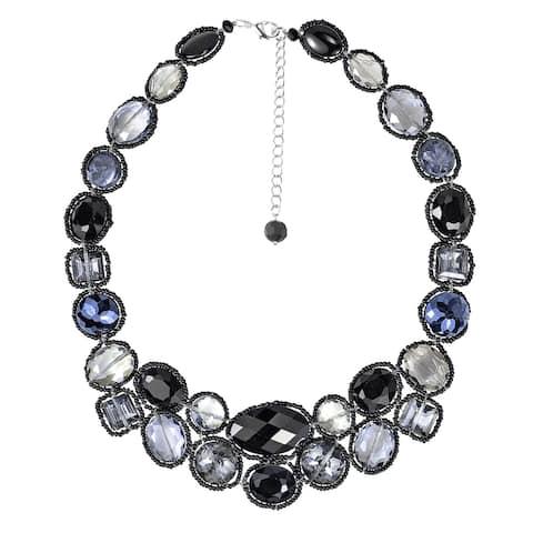 Handmade Dazzling Garland Luscious Crystals Statement Necklace (Thailand)