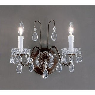 "Classic Lighting 8372-EB 12"" Crystal Wallchiere from the Daniele Collection"