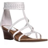 Lauren by Ralph Lauren Meira Wedge Gladiator Sandals, White