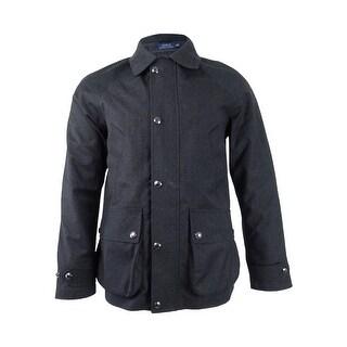 Polo Ralph Lauren Men's 3-in-1 Wool Twill Coat (S, Black Coal) - black coal - S