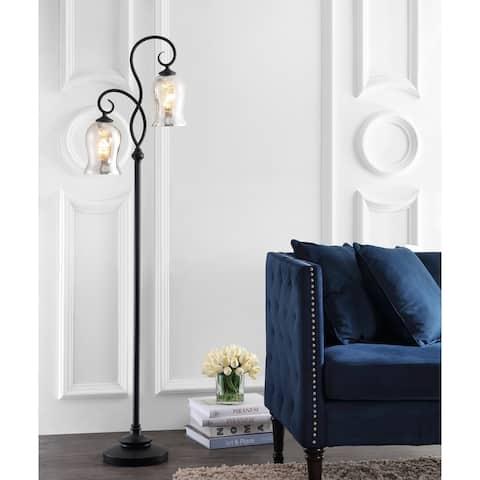 "SAFAVIEH Lighting 64-inch Claudia Black LED Floor Lamp - 16"" x 9.8"" x 63.5"""