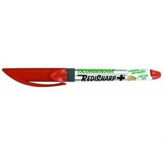 Dixon Ticonderoga 98201 Redi Sharp Plus Low Odor Permanent Marker, Red