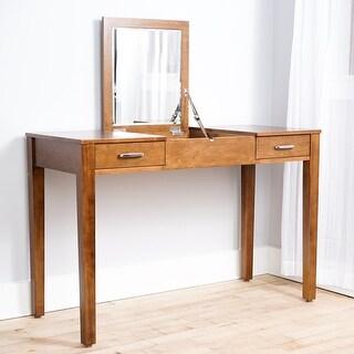 Link to Posh Pollen Ainsley Deco-Walnut Vanity Desk Similar Items in Bedroom Furniture