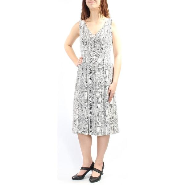 Shop Anne Klein Womens Black Sleeveless V Neck Below The