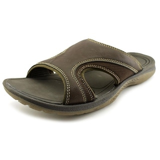Chaps Brooks Men Open Toe Synthetic Brown Slides Sandal