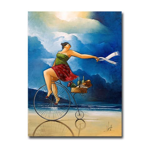 Delivery by Ronald West Gallery Wrapped Canvas Giclee Art (24 in x 18 in)