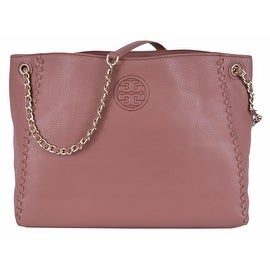 New Tory Burch Women's Marion Chain Shoulder Leather Center Zip Tote Handbag
