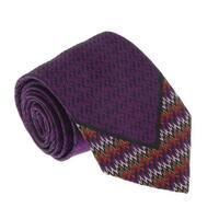 Missoni U5126 Purple/Black Flame Stitch 100% Silk Tie - 60-3