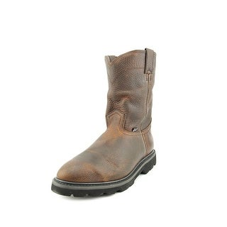Justin Boots Wellington Men Round Toe Leather Tan Western Boot