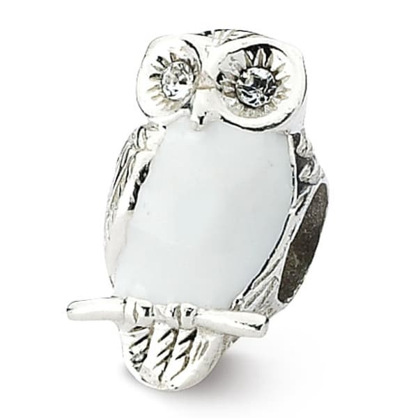 Sterling Silver Reflections Enameled Wise Owl Bead (4mm Diameter Hole)