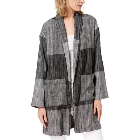 Eileen Fisher Womens Shawl Collar Jacket, Grey, XX-Small