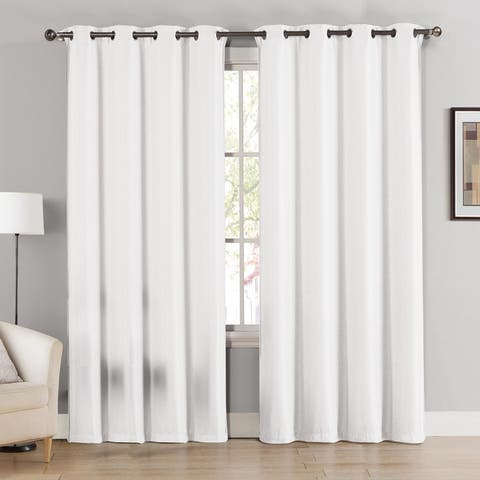 Cathy Textured Room Darkening Window Curtain Panels (Single, 2-Pack or 4-Pack)