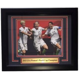 USA Soccer 2015 FIFA World Cup Champs Framed 8x10 Photo Morgan Lloyd Rapinoe