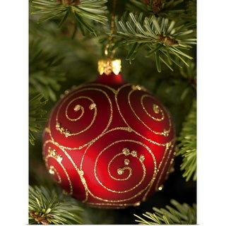 """Christmas tree bauble"" Poster Print"