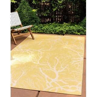 Link to Unique Loom Outdoor Branch Area Rug Similar Items in Transitional Rugs