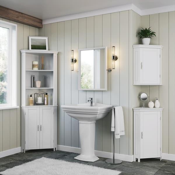 Somerset Tall Two Door Corner Cabinet White Overstock 31444386