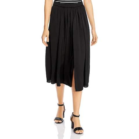 Kobi Halperin Womens Vicki Skirt Front Slit Midi - Black