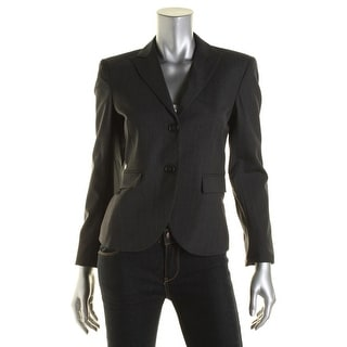 Theory Womens Edynas Wool Blend Double Vent Two-Button Blazer - 8