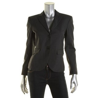 Theory Womens Edynas Two-Button Blazer Wool Blend Double Vent - 8