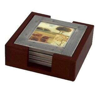 Thirstystone HA44 Wood Holder For Square Coasters - Dark Walnut