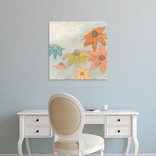 Easy Art Prints June Erica Vess's 'Floral Fresco I' Premium Canvas Art