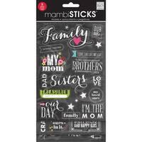 Glitter Stickers Value Pack-Chalk - Family