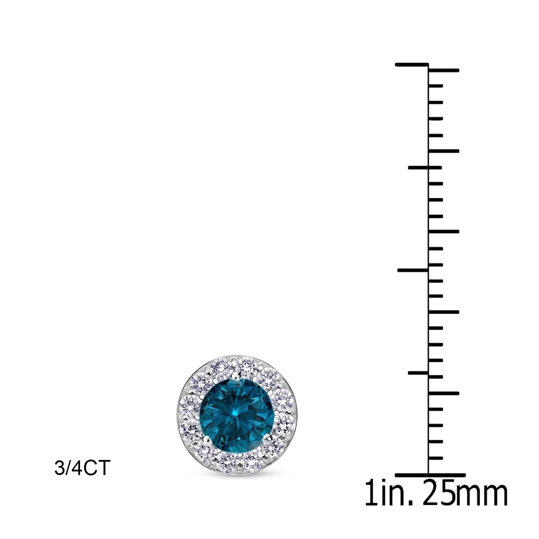 New Halo 1//2ct 4mm Blue Iolite 9ct Yellow Gold Stud Earrings £46.99  Freepost