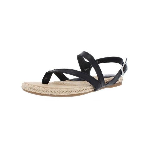 bc3f0a17a Shop B.O.C. Womens Lucila Flat Sandals Faux Leather Strappy - Free ...