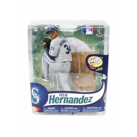 Seattle Mariners MLB Series 31 Figure: Felix Hernandez (Gray Uniform Variant) - multi